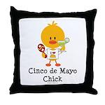 Cinco de Mayo Chick Throw Pillow