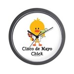 Cinco de Mayo Chick Wall Clock