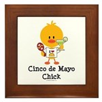 Cinco de Mayo Chick Framed Tile