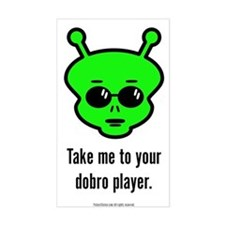 Alien Dobro Decal