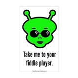 Fiddle Alien Decal