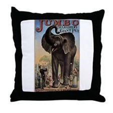 Vintage Circus Elephant Throw Pillow