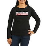 Police State Women's Long Sleeve Dark T-Shirt