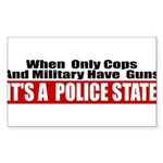 Police State Sticker (Rectangle 50 pk)