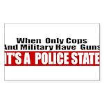 Police State Sticker (Rectangle 50 pk)