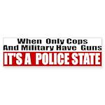 Police State Sticker (Bumper 10 pk)