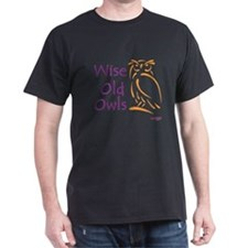 Wise Old Owls Black T-Shirt - Approx £14.25
