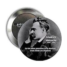 Friedrich Nietzsche Skeptical Button