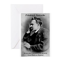 Friedrich Nietzsche Skeptical Greeting Cards (Pack