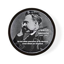 Friedrich Nietzsche Skeptical Wall Clock