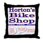 Horton's Bike Shop Throw Pillow