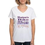 Horton's Bike Shop Women's V-Neck T-Shirt