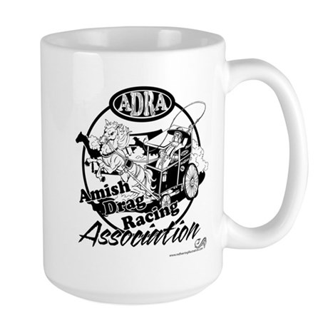 Official Amish Drag Racing Association Large Mug