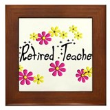retired teacher Framed Tile