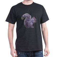 Gray Squirrel Black T-Shirt