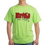 World's Best Farter (oops.. FATHER!) Green T-Shirt