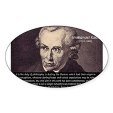Immanuel Kant Reason Oval Decal