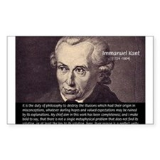 Immanuel Kant Reason Rectangle Decal