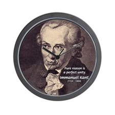 Immanuel Kant Reason Wall Clock