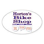 Horton's Bike Shop Sticker (Oval)