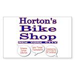 Horton's Bike Shop Sticker (Rectangle)