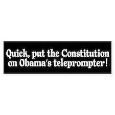 President's Teleprompter Bumper Sticker