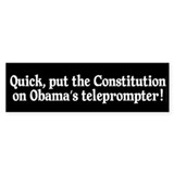 President's Teleprompter Car Sticker