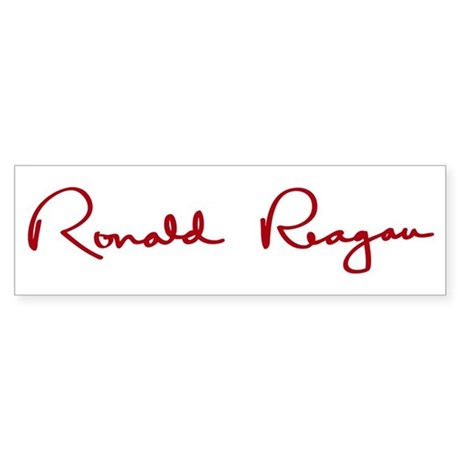 Ronald Reagan Signature Sticker (Bumper)