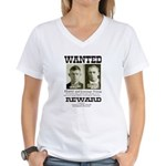 Young Brothers Wanted Women's V-Neck T-Shirt