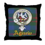 Agnew Clan Crest / Tartan Throw Pillow