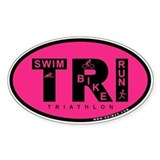 Thiathlon Swim Bike Run Decal