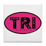 Thiathlon Swim Bike Run Tile Coaster