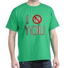 I (NO HEART) YOU Black T-Shirt