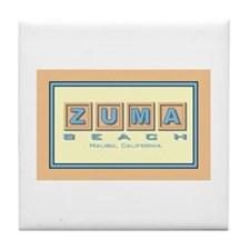 Zuma Beach Ca Tile Coaster