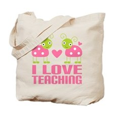 Ladybug I Love Teaching Tote Bag