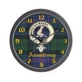 Armstrong Clan Crest Wall Clock
