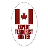 CANADA-EXPERT TERRORIST HUNTER Oval Decal