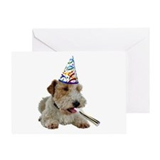 Wire Fox Terrier Birthday Greeting Card