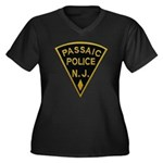 Passaic Police Women's Plus Size V-Neck Dark T-Shi