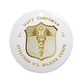 Navy Corpsman USMC Ornament (Round)