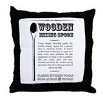 Wooden Mixing Spoon Throw Pillow