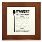 Wooden Mixing Spoon Framed Tile