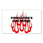 Firefighters Girlfriend Sticker (Rectangle 50 pk)