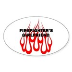 Firefighters Girlfriend Sticker (Oval 10 pk)