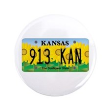 "KS Sunflower 3.5"" Button"