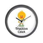 Triathlon Chick Wall Clock