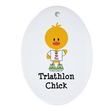 Tri Chick Ornament (Oval)