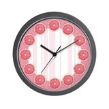 Pink Grapefruit Wall Clock