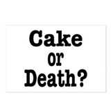 Cake or Death Black Postcards (Package of 8)