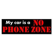No Phone Zone Bumper Car Sticker